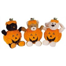 Peluche Halloween sonore - Ours, Chien & Chat