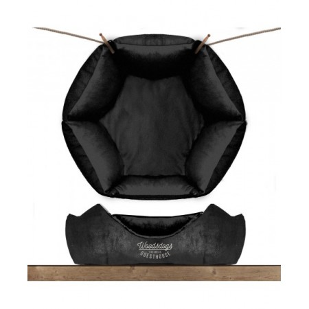 Sofa hexagonal WoodsDogs Noir