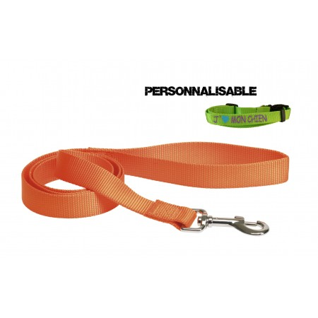 Laisse sangle nylon Orange