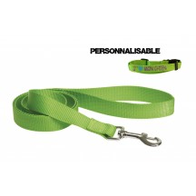 Laisse sangle nylon Verte
