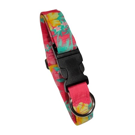 Collier Palmiers Rose - Beach Dog