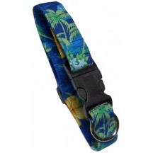 Collier Palmiers Bleu - Beach Dog