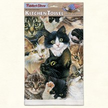 Serviette - Torchon Chatons - Fiddler's Elbow