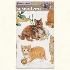 Serviette - Torchon Chatons Roux - Fiddler's Elbow