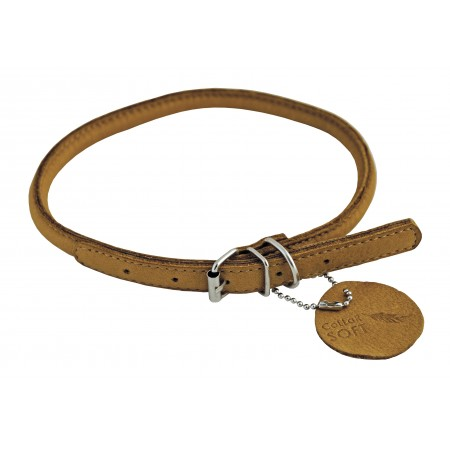 Collier en cuir rond Naturel