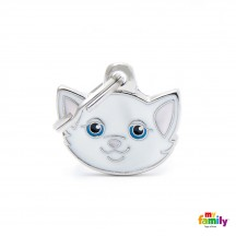 Médaille Chat Blanc