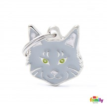 Médaille Chat Maine Coon Gris
