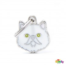 Médaille Chat Persan Blanc