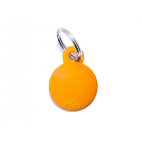 Médaille Basic Rond Aluminium Orange