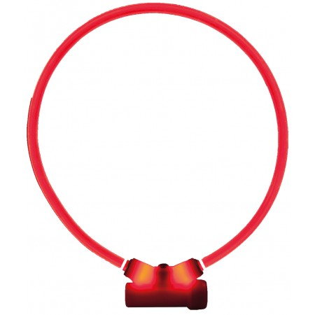 Collier lumineux Lumitube - Red Dingo - Rouge