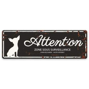 "Plaque ""Attention au chien"" - Chihuahua"