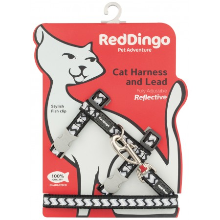Harnais et laisse Chat fantaisie Ziggy - Red Dingo