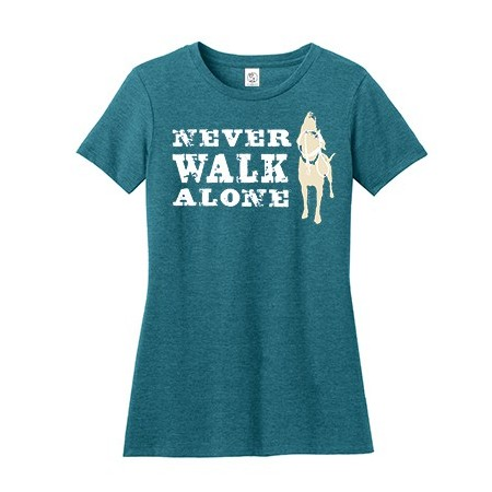 Tee shirt Never Walk Alone pour femme - Dog Is Good
