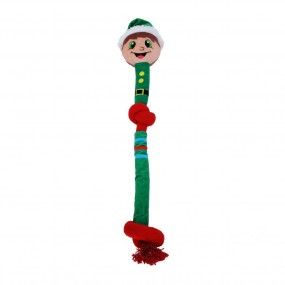 KONG Holiday 2021 Occasions Rope Elf Lg