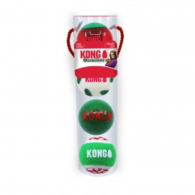 KONG Holiday 2021 Occasions Balls Md - pack de 4