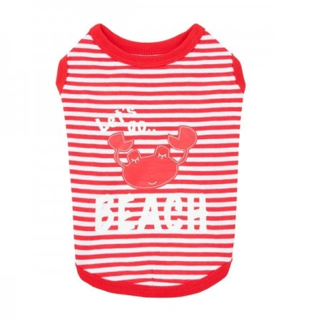 Tee-shirt Beach Party - Rouge - Puppia