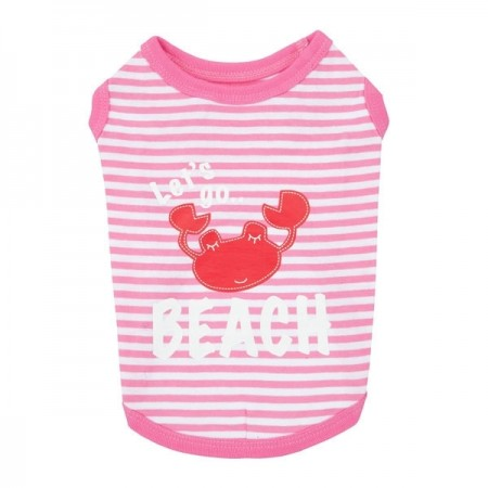 Tee-shirt Beach Party - Rose - Puppia