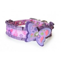 Collier Papillon Lilas en nylon - Camon